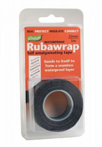 Ultratape Rubawrap Waterproof Selfamalgamating Tape 5m. x 25mm Black